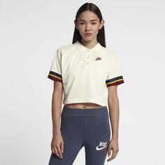 Nike Sportswear Women's Cropped Polo Nike Sportswear, Adidas Jacket, Polo Ralph Lauren, Sporty, Mens Tops, Jackets, Outfits, Fashion, Woman