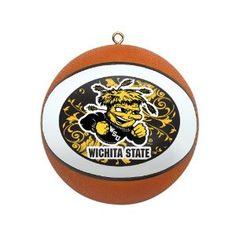Amazon.com: NCAA Wichita State Shockers Mini Replica Basketball Ornament: Sports & Outdoors