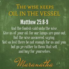 BEWARE #WiseVirgins to those people around you who rapidly drain your OIL !  You…