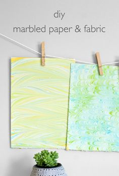 DIY Marbled Paper & Fabric