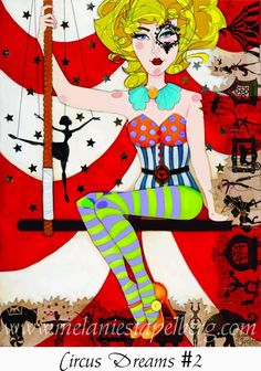 Circus dreams 2 Art print on canvas $35