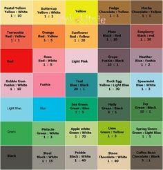 Colour fondant colour mix chart