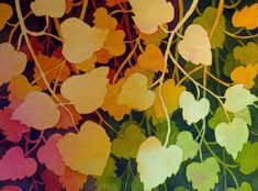 The Painted Prism: Negative Painting of Aspen Leaves Space Painting, Silk Painting, Painting & Drawing, Painting Trees, Painting Studio, Watercolour Tutorials, Watercolor Techniques, Painting Techniques, Watercolor Negative Painting