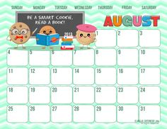 {Free Version} August 2013 Calendar~The countdown is on {2 months!} until P's 1st birthday & I'm keeping track of my progress with these adorable calendars...the big day is 8.24!! August also reminds me of MY going back to school...to graduate!!