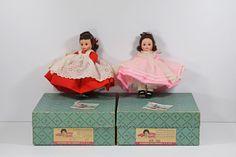 #MadameAlexander #LittleWomen #Dolls Jo #7813 & Beth #7812 with Boxes