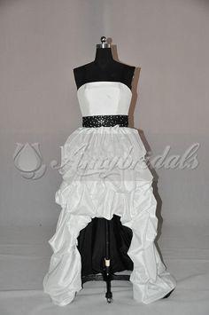 Wholesale Dress Wedding - Buy New Style Short Wedding Dress Long Train Dress Wedding Black And White, $196.0 | DHgate