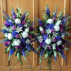 sympathy flowers by brookside blooms, an exceptional Tulsa florist delivering unique fresh flowers for all occasions and events Funeral Floral Arrangements, Church Flower Arrangements, Church Flowers, Beautiful Flower Arrangements, Pretty Flowers, Silk Flowers, Funeral Spray Flowers, Funeral Sprays, Flower Bouquet Wedding