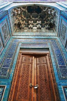 Masjed door in Samerkand