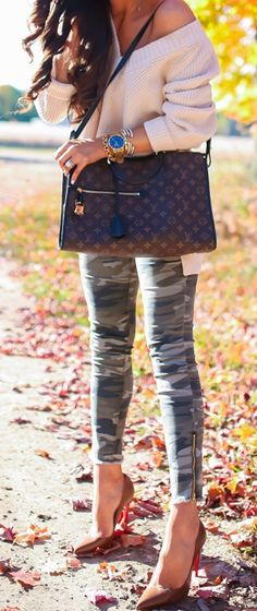 Emily Gemma, The Sweetest Thing Blog, Camo, louis vuitton, heels, stilettos, fall fashion, winter fashion, fashion outfit, fashion inspiration , fashion blogger. #fashionbloggerstyle #fashiontrend #trends #thesweetestthingblog