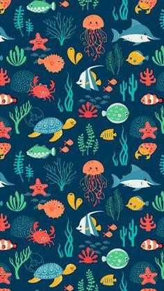 Poster de fundo do mar.
