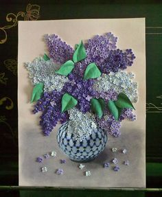 Quilled lilacs
