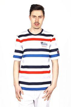 Paul & Shark mens t-shirt E15P0159 570. Details: E15P0159 570 - Color: Multi/Color