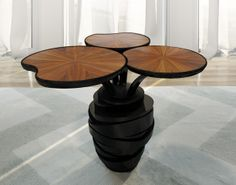 "Waterlily Pedestal Table ""Study nature, love nature, stay close to nature. It will never disappoint you"". This is the philosophy of Frank Lloyd Wright, prestigious architect that marked a generation and influenced greatly the direction of the architecture in the twentieth century."