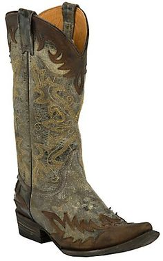 Stetson® Ladies Betty Destroyed Chocolate Brown with Wingtip Pointed Toe Western Boot | Cavender's Boot City