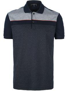 GUCCI Camisa Polo Azul.