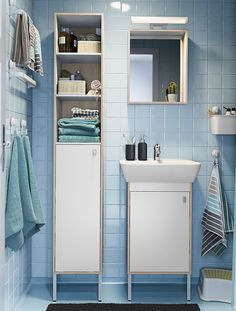A little bit of storage space in your bathroom goes a long way! Click for ideas to make space for everything you need.