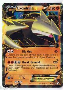 Pokemon Card Legendary Treasures Rare Holo Excadrill EX 82/113 FREE COMB S&H See more of our cards for sale at http://stores.ebay.com/DDs-Pokemon-Card-and-Gift-Shop