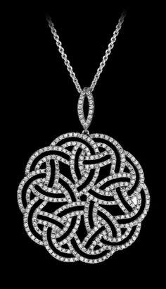 Pendentif divina o Diamants Blanc