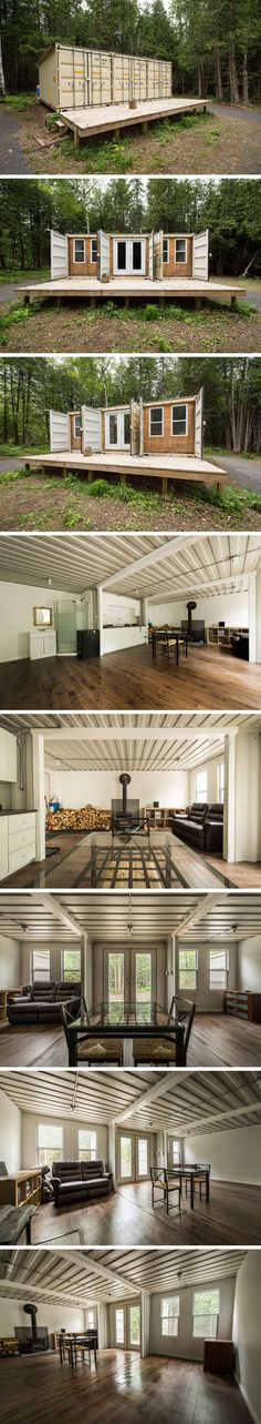 alternative floor plan using 4x40 foot shipping container with a clear. Black Bedroom Furniture Sets. Home Design Ideas