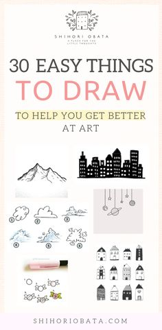 30 Cool & Easy Things to Draw to Get Better at Art Drawing Tips drawing for beginners Drawing Lessons, Drawing Tips, Drawing Sketches, Art Lessons, Sketching, Drawing Art, Drawing Techniques, Learn Drawing, Drawing Ideas Kids