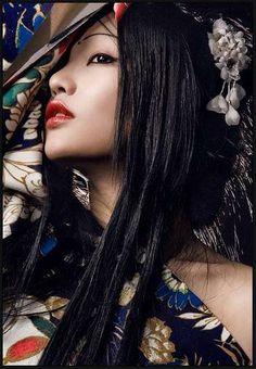 makeup , Geisha , traditional , asian , red lip                              …