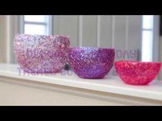 DIY Valentine's Day Themed Confetti Bowls - YouTube
