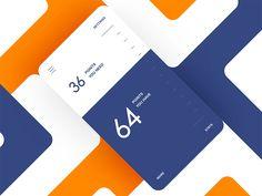 Ideas For Mobile Screen Design Ui Animation Dashboard Design, App Ui Design, User Interface Design, Mobile Ui Design, Wireframe, To Do App, Interaktives Design, Ui Animation, App Design Inspiration