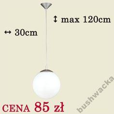 LAMPA WISZĄCA zwis KULA 30cm BIAŁA!! SUPER CENA !!