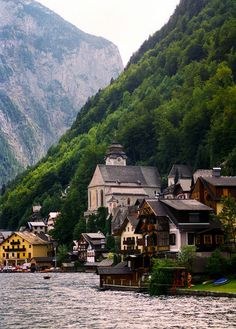 Hallstatt, Austria I can see my father in laws family house in this picture!! How cool!!!!!!