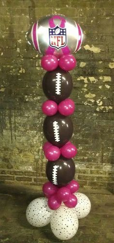 NFL, breast cancer awareness. Change to team colors for birthday or Super Bowl, sports team party.
