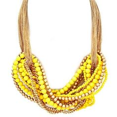 Yellow & Gold Chunky Necklace