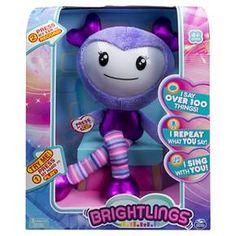 "Brightlings, Interactive Singing, Talking 15"" Plush, Purple, by Spin Master : Target"