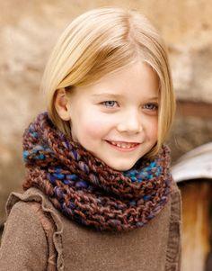 col pour enfant tricoté main laine acrylique, snood pour fille ou garçon, accessoire d'hiver, collerette, écharpe, châle