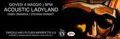 Fabio Ciminiera e Stefano Barbati oggi a Pescara in Acoustic Ladyland
