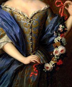 """Portrait of Anne Henriette de Bavière while the Princess of Condé"""" (after 1686) (detail) by Pierre Gobert (1662-1744)."""