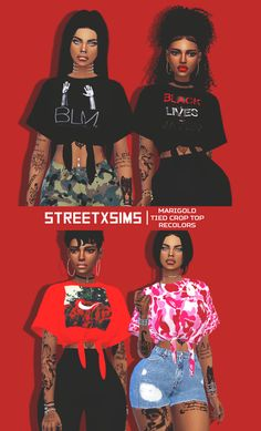 ALL MY SIMS — sims4ccthebest: StreetxSims - Marigold ' Tied...