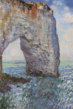 """The Manneporte near Etretat 1886"" - canvas print by Claude Monet"