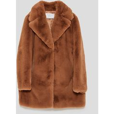 TEXTURED LAPEL JACKET - SALE | ZARA United States ($110) ❤ liked on Polyvore featuring outerwear, jackets, jacket's, lapel jacket, textured jacket and brown jacket