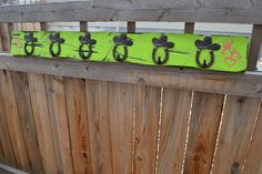 And the second request for a client's country daughter; a distressed coat rack with great cowboy hooks and the little touch of Browning logos hand painted on each end.