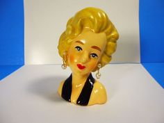 "VINTAGE MARILYN MONROE PLANTER HEADVASE 3.75""T x 2.25""W EXCELLENT CONDITION #Unknown"