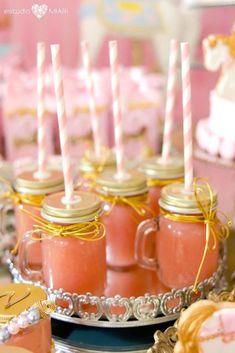 Mason jar drink mugs from an Enchanted Carousel Birthday Party on Kara's Party Ideas   KarasPartyIdeas.com (28)