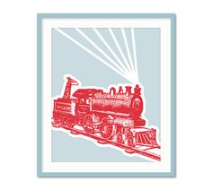Transportation Prints, Train Nursery Art, Baby Boy Decor, Boys Nursery, Train Bedroom, Transportion Series, Boys Wall Art, Toddler Art on Etsy, $15.00
