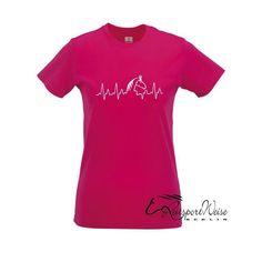 T-Shirt Horse Heartbeat in Fuchsia, 17,99 €