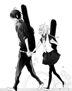 mashikaku rock manga-Miyako's living her life diligently following rules, just as her deceased father wanted her to. But one day Azuma Koutarou sees her play guitar and blackmail her to join his band.