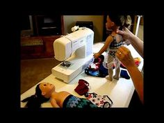 "YouTube video:  how to make 18"" doll leotards and tights by Scoresheet1, Diane Morello. She has over 280 how to videos all for 18"" dolls like Journey Girl and American Girl Doll  Plus, she offers a free pdf pattern of her designs."