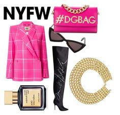 """Think Pink"" by jasminsangalyan on Polyvore featuring Yves Saint Laurent, Fendi, Vetements, Dolce&Gabbana, Chanel, Maison Francis Kurkdjian, contestentry and NYFWHotPink"