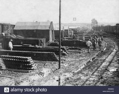 WW1, 1916, French ammunition depot. Image: 20729354 - Alamy