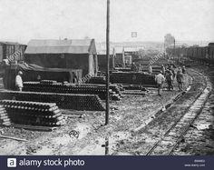 WW1, 1916, French ammunition depot. Image: 20729354 - Alamy