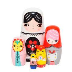 NEW * Wooden nesting dolls Fleur & Friends - Suzy Ultman