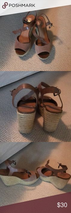 Dolce vita wedge sandals Gently worn dolce vita wedge sandals nude suede Dolce Vita Shoes Sandals